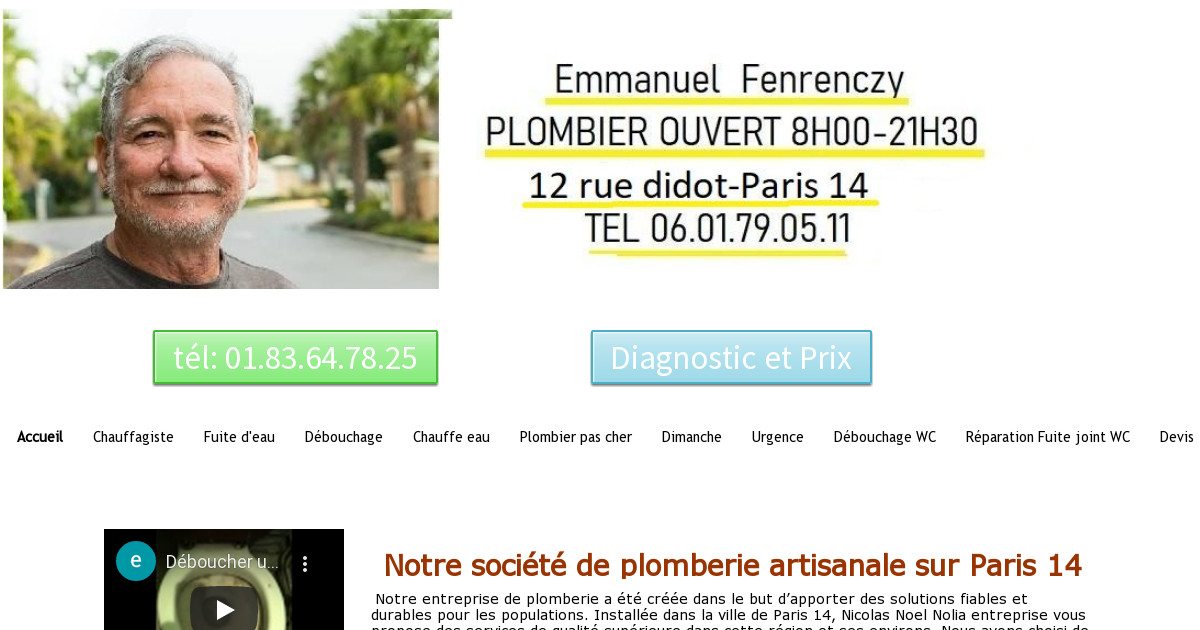 nicolas plombier paris 14 chez vous pour 30 entre 14h et 18h. Black Bedroom Furniture Sets. Home Design Ideas